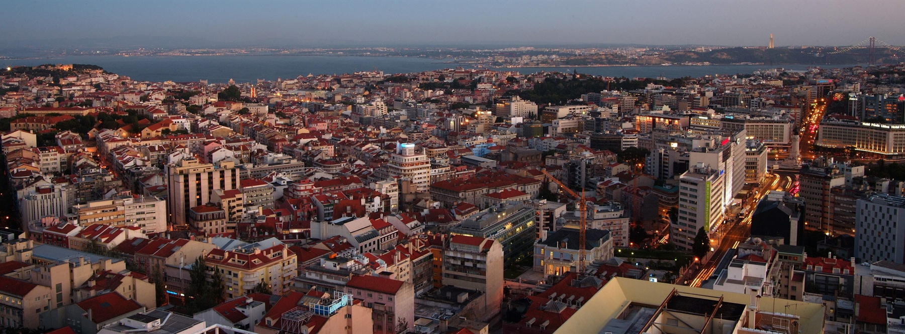View of city from above